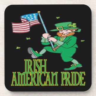 Orgullo americano irlandés posavasos