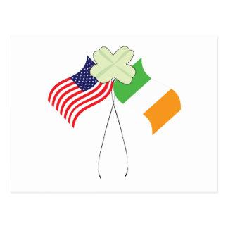 Orgullo americano irlandés postal