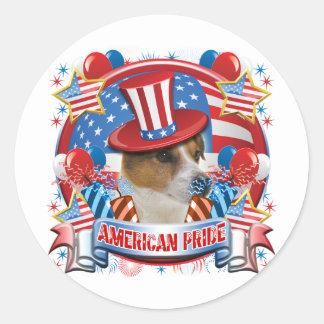 Orgullo americano Jack Russell Etiqueta