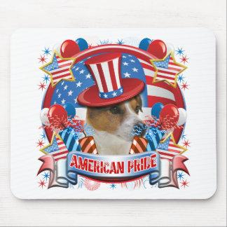 Orgullo americano Jack Russell Tapetes De Raton