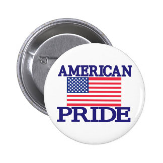 Orgullo americano pin redondo de 2 pulgadas