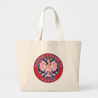 Orgullo americano polaco bolsa lienzo