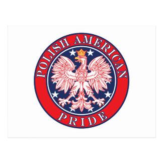 Orgullo americano polaco postal