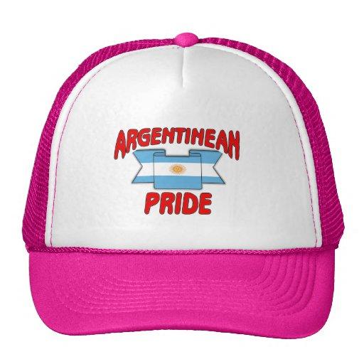 Orgullo argentino gorros bordados