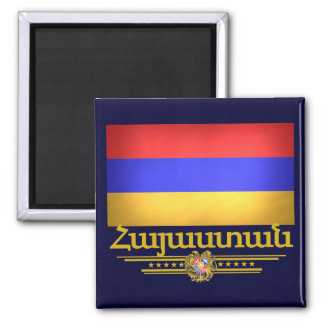Orgullo armenio imán cuadrado
