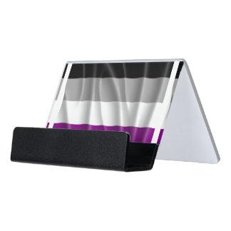 Orgullo asexual caja de tarjetas de visita para escritorio