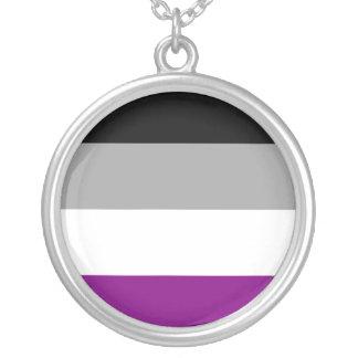 Orgullo asexual collar plateado