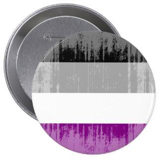 Orgullo asexual del vintage pin redondo de 4 pulgadas