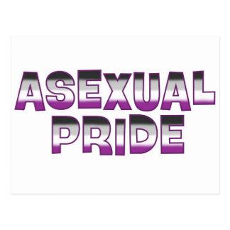 Orgullo asexual tarjetas postales