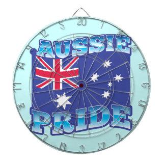 ORGULLO AUSTRALIANO con una bandera australiana Tabla Dardos