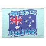 ORGULLO AUSTRALIANO con una bandera australiana Manteles Individuales
