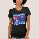 ORGULLO AUSTRALIANO con una bandera australiana Camisetas