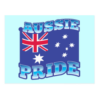 ORGULLO AUSTRALIANO con una bandera australiana Postal
