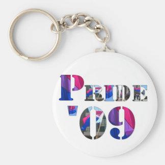 Orgullo bisexual '09 llaveros personalizados