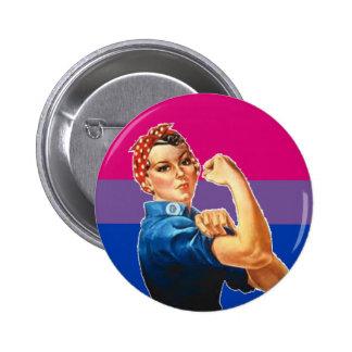 Orgullo bisexual de la mujer pin redondo 5 cm