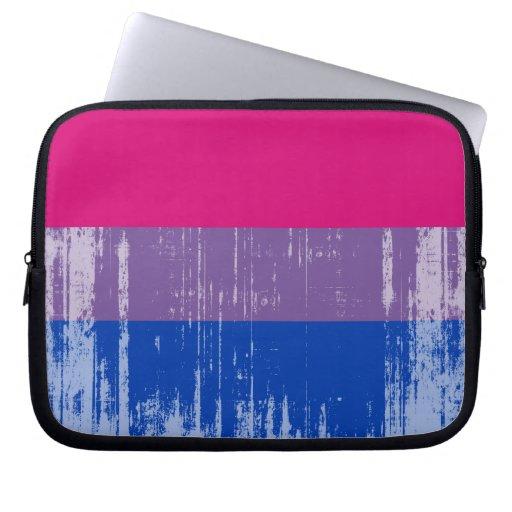 Orgullo bisexual distressed.png fundas computadoras