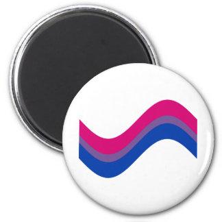 Orgullo bisexual imán redondo 5 cm