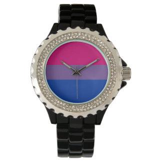 Orgullo bisexual relojes de pulsera