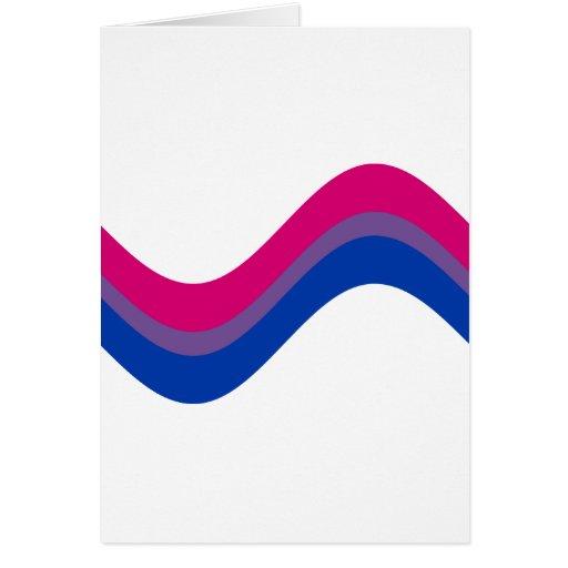 Orgullo bisexual tarjetas