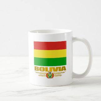 """""""Orgullo boliviano """" Taza Básica Blanca"""