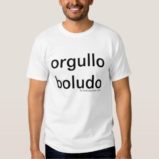 Orgullo boludo - proud to be one or....? tee shirt