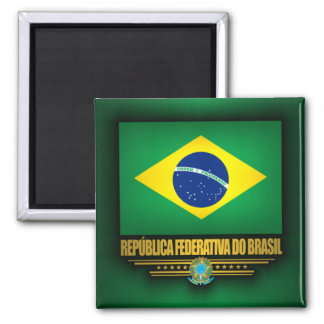 Orgullo brasileño iman de nevera