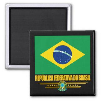 Orgullo brasileño imán cuadrado