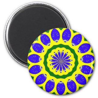 Orgullo brasileño imán redondo 5 cm