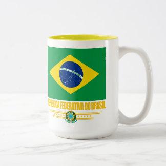 Orgullo brasileño taza de café