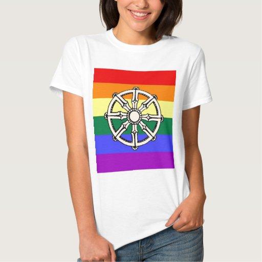 Orgullo budista gay camiseta