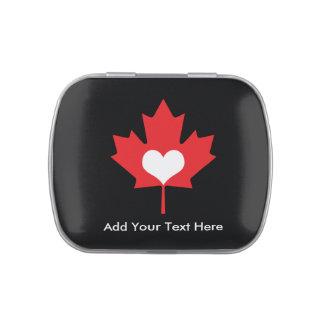 Orgullo canadiense - hoja de arce de Canadá del Latas De Caramelos