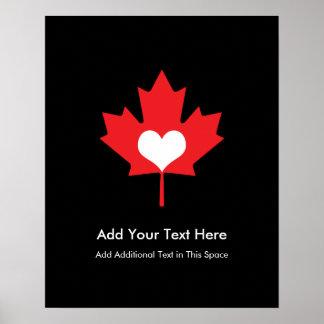 Orgullo canadiense - hoja de arce de Canadá del Poster