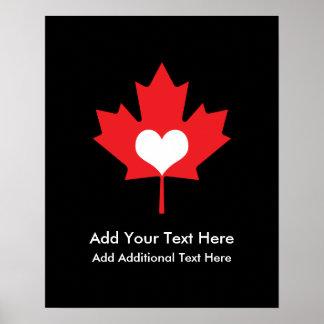 Orgullo canadiense - hoja de arce de Canadá del Impresiones