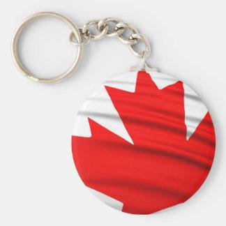 Orgullo canadiense llavero redondo tipo pin
