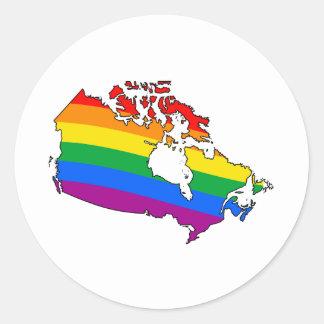 ORGULLO CANADIENSE - .PNG PEGATINA REDONDA