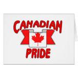 Orgullo canadiense tarjeton