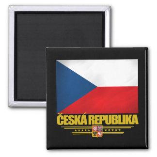 Orgullo checo imán cuadrado