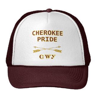 Orgullo cherokee con el gorra de las flechas