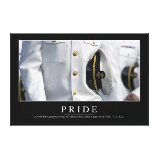 Orgullo: Cita inspirada 2 Impresión En Lona Estirada