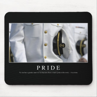 Orgullo: Cita inspirada 2 Tapetes De Ratón