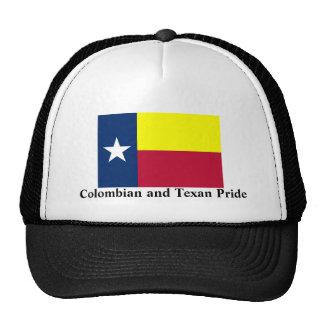 Orgullo colombiano y del Texan Gorro De Camionero