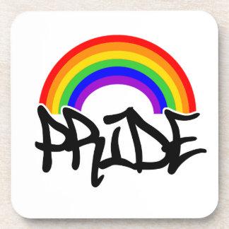 Orgullo con el arco iris posavasos de bebida