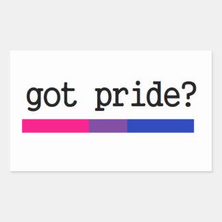 ¿Orgullo conseguido? Pegatina bisexual del orgullo