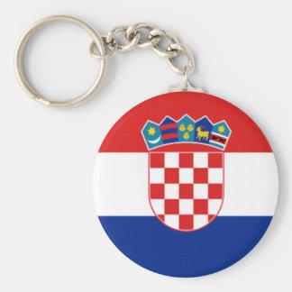 ¡Orgullo croata! Llavero Redondo Tipo Pin