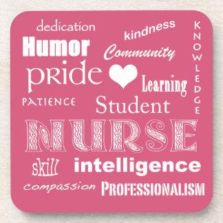 Orgullo-Cualidades de la enfermera de Posavasos De Bebidas