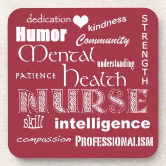 Orgullo-Cualidades de la enfermera de salud Posavasos