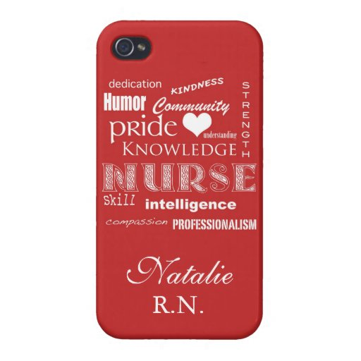 Orgullo-Cualidades de la enfermera/rojo del tomate iPhone 4/4S Carcasa