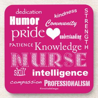 Orgullo-Cualidades de la enfermera/rosa de la Posavasos De Bebidas