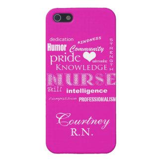 Orgullo-Cualidades/de la enfermera rosa vibrante+P iPhone 5 Cárcasas