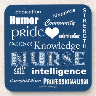 Orgullo-Cualidades/profundamente de la enfermera Posavasos De Bebida